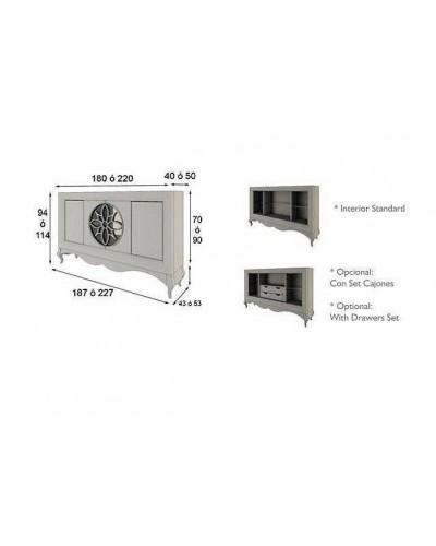 Aparador moderno diseño lacado alta calidad 397-AZ21