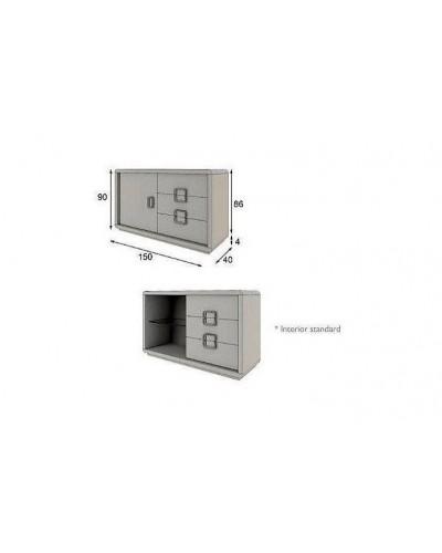 Aparador moderno diseño lacado alta calidad 397-AZ27