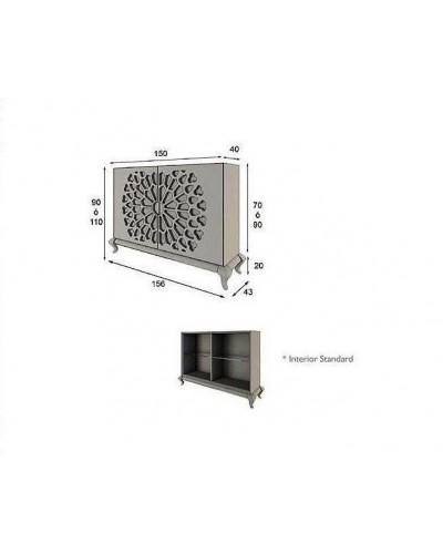 Aparador moderno diseño lacado alta calidad 397-AZ19