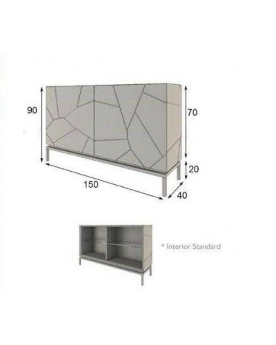 Aparador moderno diseño lacado alta calidad 397-AZ31