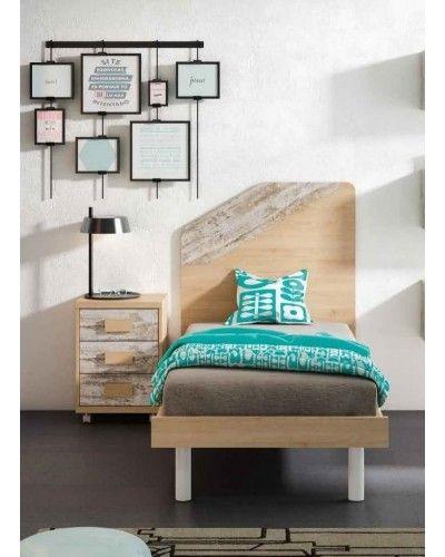 Cama dormitorio juvenil infantil 224-606