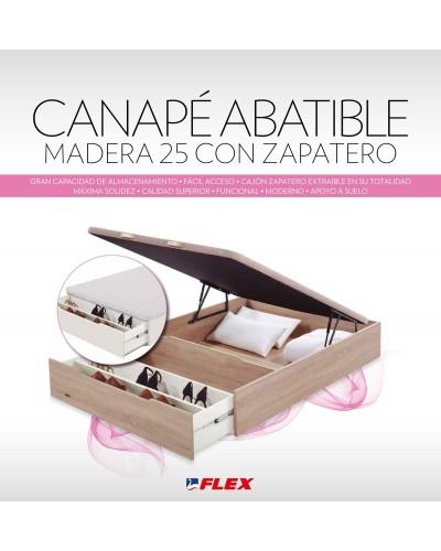 Canapé Madera Abatible 25 con Zapatero Blanco