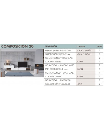 Mueble comedor moderno diseño 270-i20