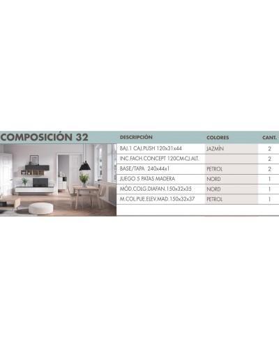 Mueble comedor moderno diseño 270-i32