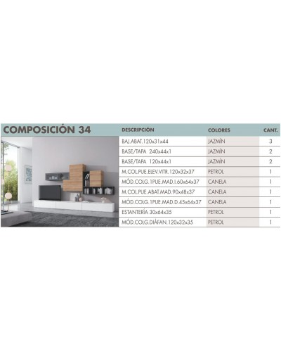 Mueble comedor moderno diseño 270-i34