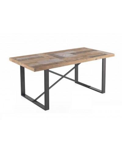 Mesa comedor moderna industrial madera 1350-10011