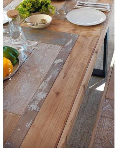 Mesa comedor vintage industrial madera 1350-10011