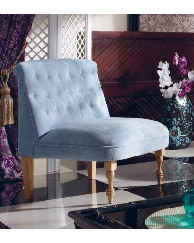 Sillón retro tapizado 956-273 Azul