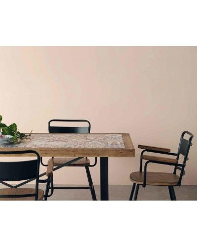Mesa comedor moderna industrial madera 1350-7989