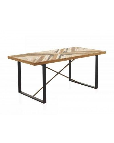 Mesa comedor moderna industrial madera 1350-7997