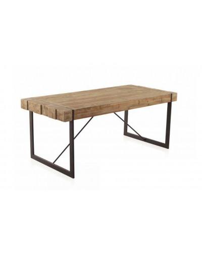 Mesa comedor moderna industrial madera 1350-8007