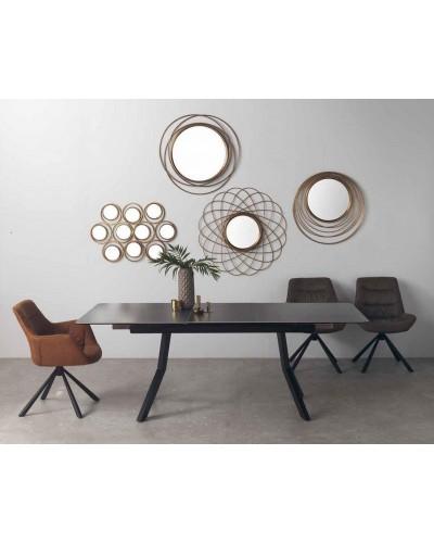 Mesa comedor extensible industrial ceramica 1350-8225