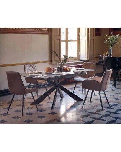 Mesa comedor extensible industrial ceramica 1350-8226