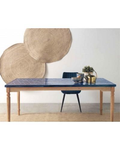 Mesa comedor moderna industrial madera 1350-10014