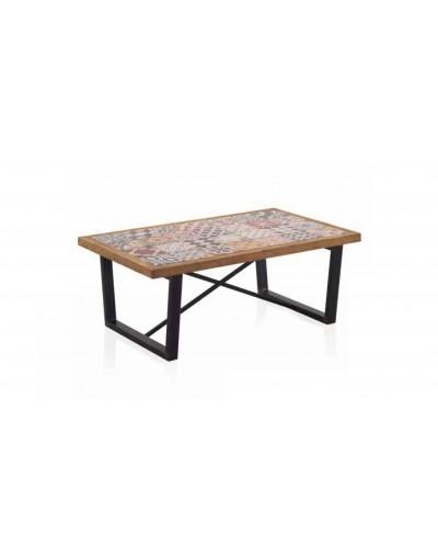 Mesa centro comedor vintage colonial madera 1350-7990