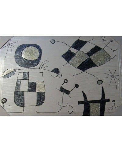 Cuadro decoración diseño metalico miro 909-2