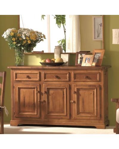 Aparador buffet rustico madera  962-a006