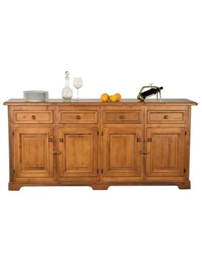 Aparador buffet colonial clasico madera  962-A009
