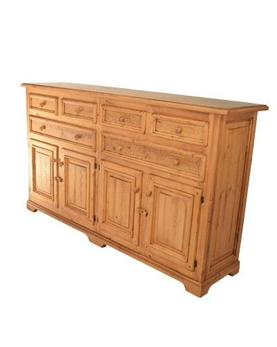 Aparador buffet colonial clasico madera  962-A0452