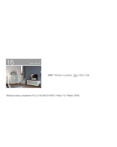 Aparador moderno diseño 194-2027 Blanco-Gris