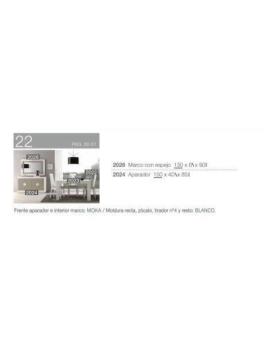 Aparador con espejo moderno diseño 194-2024B