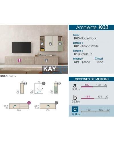 Mueble comedor moderno diseño 301-K03