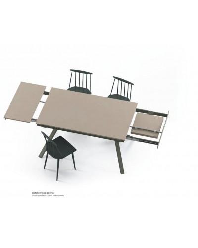 Mesa de comedor moderna 2 extensibles 301-KX1