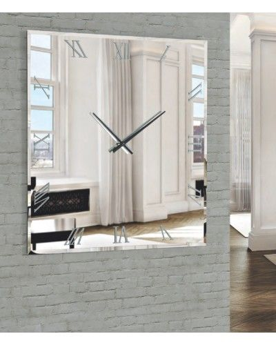Reloj pared cuadrado con luz led diseño 1362-02 a