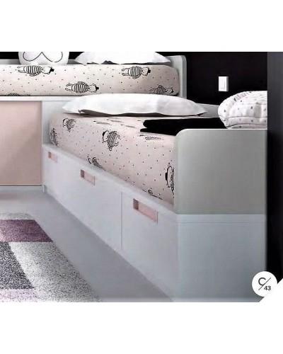 Dormitorio juvenil infantil moderno 363-122