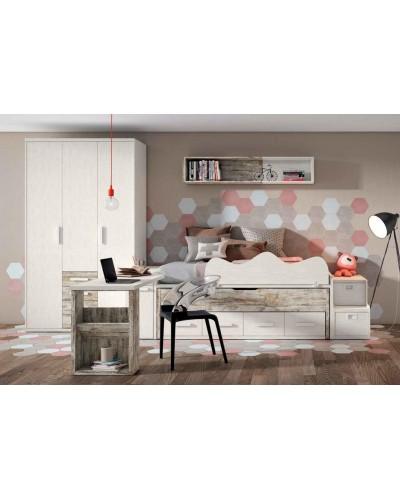 Dormitorio juvenil infantil moderno 224-114
