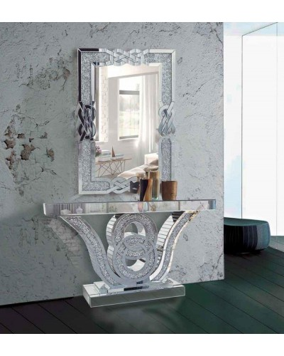 Recibidor moderno acero cristal vintage 1362-RS 2088