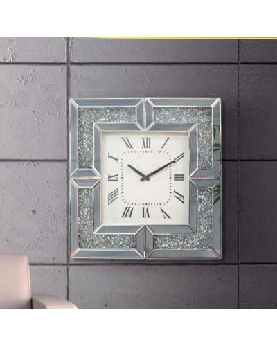 Reloj espejo pared cuadrado diseño 1362-NT-085