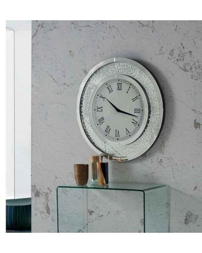 Reloj espejo pared redondo diseño 1362-NT-084
