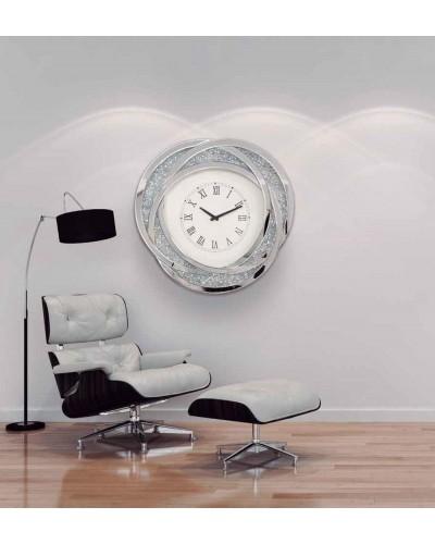 Reloj espejo pared redondo diseño 1362-NT-087