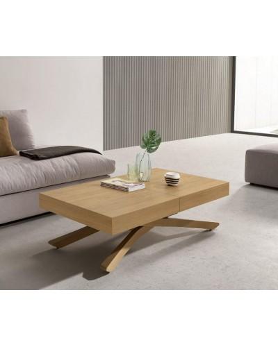 Mesa multifuncional centro/comedor elevable extensible moderna diseño 14-LO01