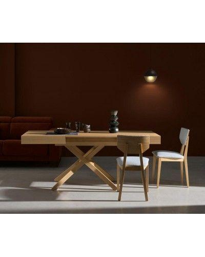 Mesa multifuncional centro/comedor elevable extensible moderna diseño 14-LO02