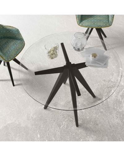 Mesa comedor redonda moderna diseño actual 675-07