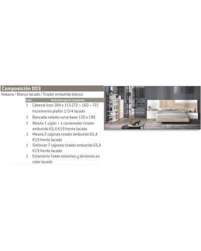 Dormitorio matrimonio moderno diseño actual 69-CO003