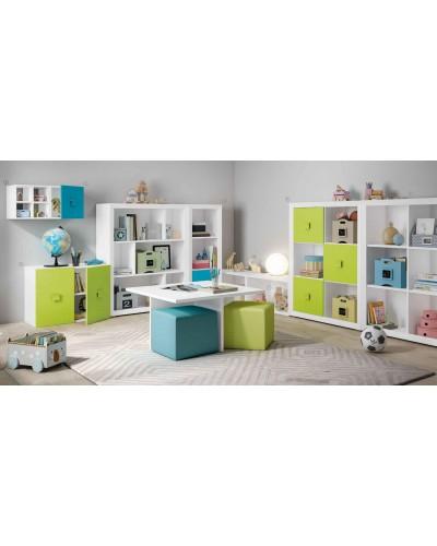 Dormitorio Juvenil infantil colonial moderno diseño 1374-01