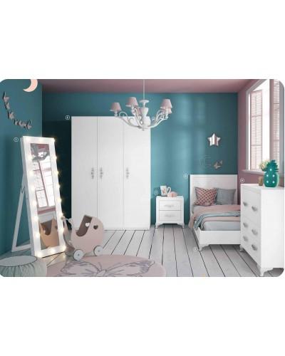 Dormitorio Juvenil infantil colonial moderno diseño 1374-05
