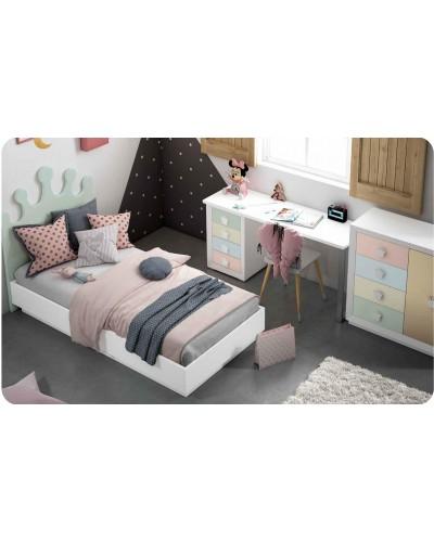 Dormitorio Juvenil infantil colonial moderno diseño 1374-07