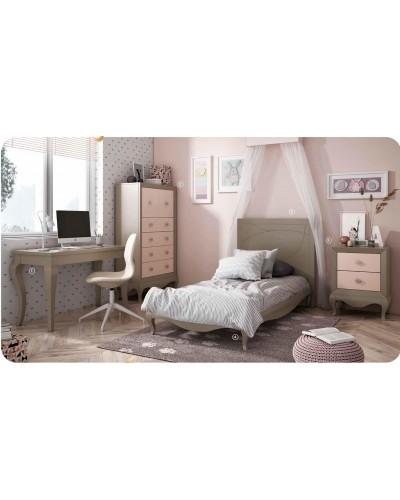 Dormitorio Juvenil infantil colonial moderno diseño 1374-08