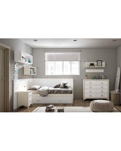 Dormitorio Juvenil infantil colonial moderno diseño 1374-11