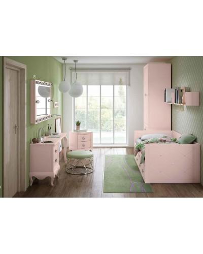 Dormitorio Juvenil infantil colonial moderno diseño 1374-13