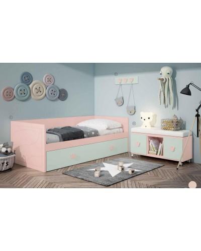 Dormitorio Juvenil infantil colonial moderno diseño 1374-15