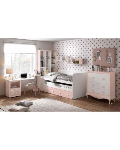 Dormitorio Juvenil infantil colonial moderno diseño 1374-17