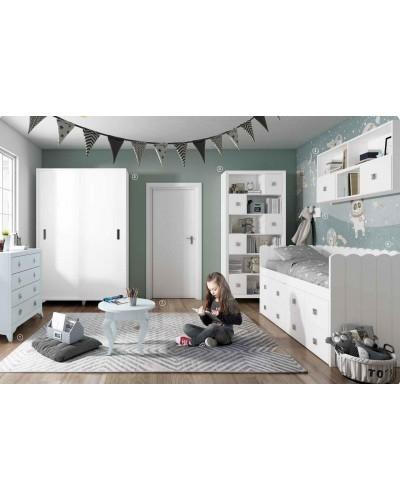 Dormitorio Juvenil infantil colonial moderno diseño 1374-19