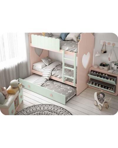 Dormitorio Juvenil infantil colonial moderno diseño 1374-23