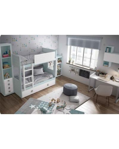 Dormitorio Juvenil infantil colonial moderno diseño 1374-25
