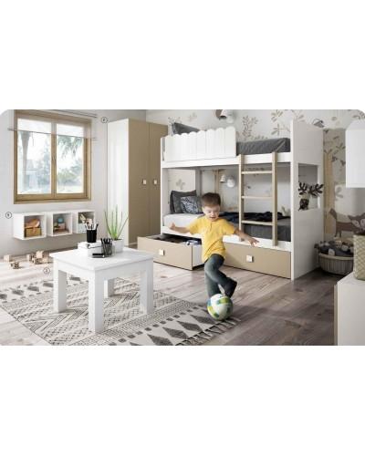 Dormitorio Juvenil infantil colonial moderno diseño 1374-27